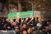 غبارروبی مزار شهدا و تشییع دو شهید مدافع حرم در نجف آباد